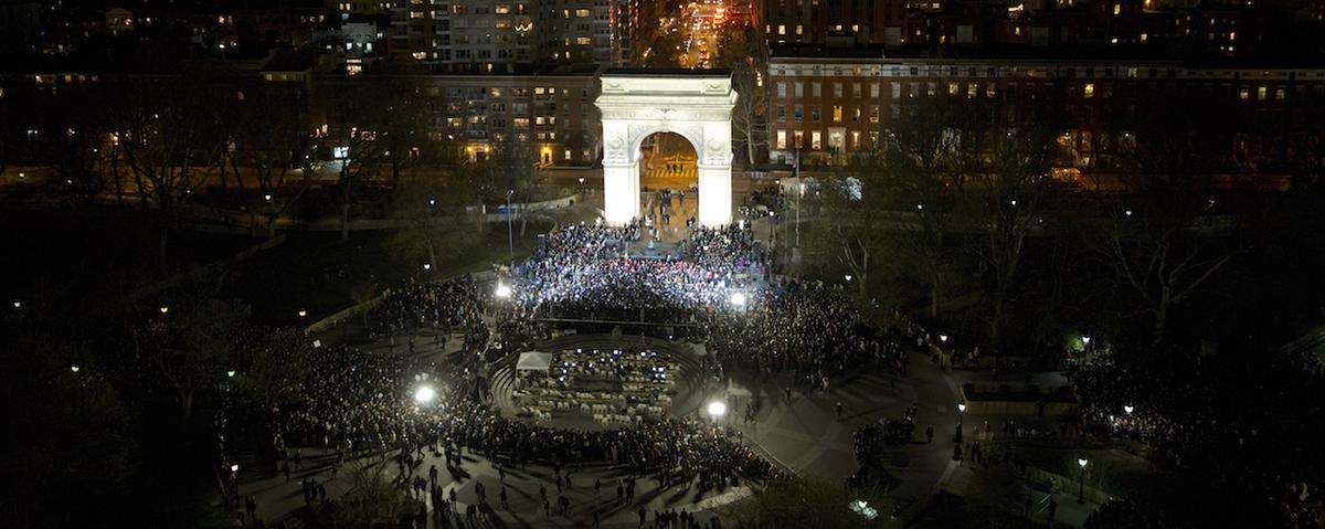 Sanders Draws 27,000 to Washington Square Park Rally Ahead of Must-Win New York Primary