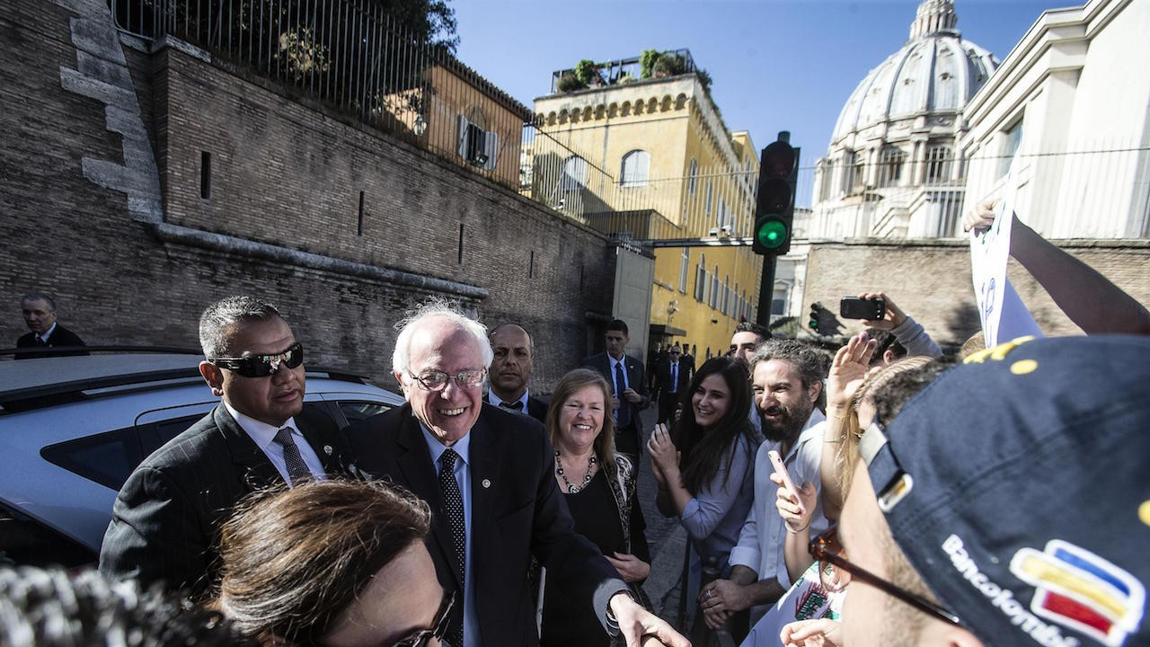 Bernie Sanders Quotes the Pope During His Weirdly Controversial Vatican Visit