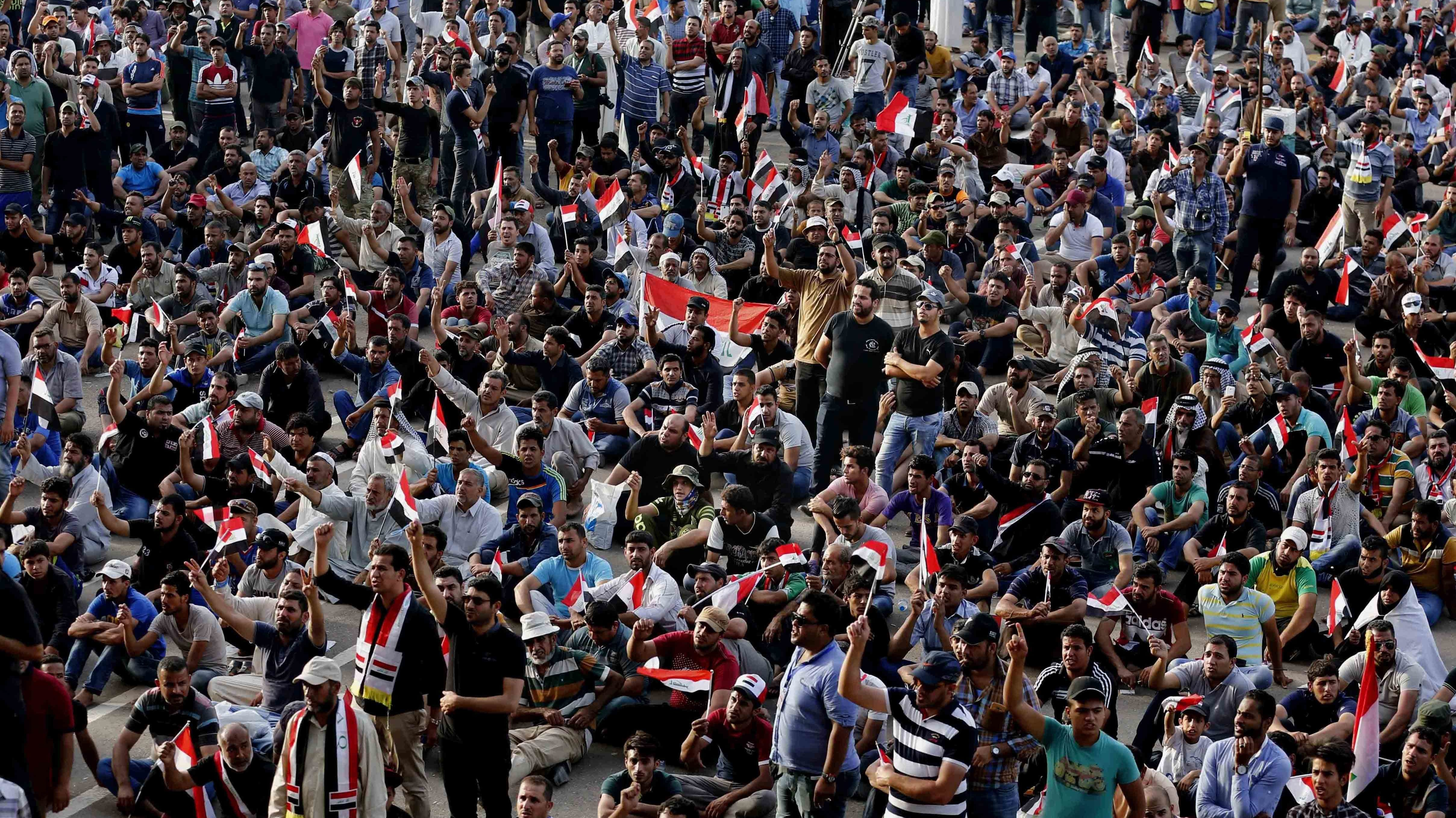 Iraqi Protestors Withdraw From Unprecedented Occupation of Baghdad's Green Zone