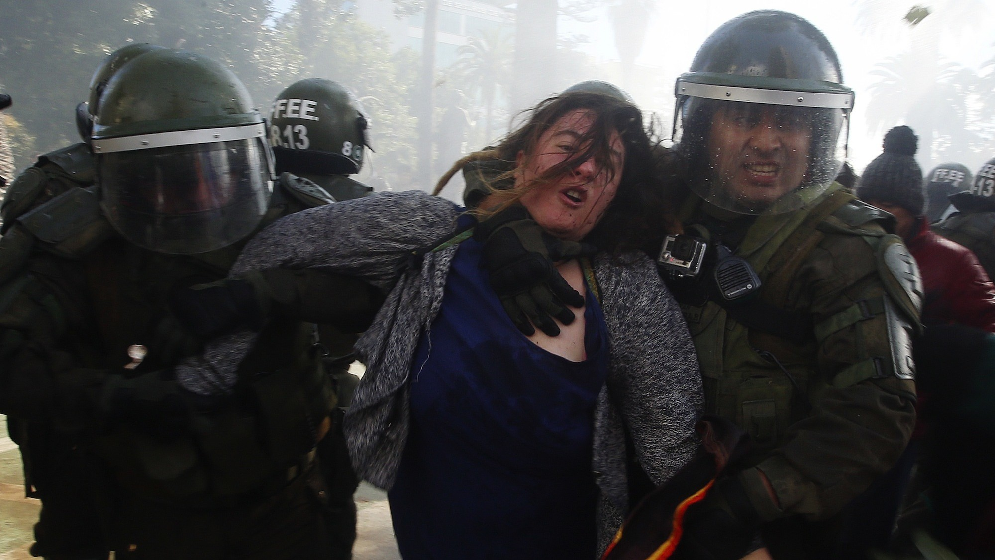 One Dead in Chile After Protesters Set Fires During President's State-of-the-Nation Speech