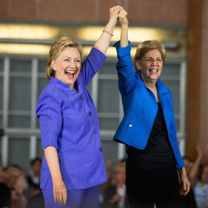 Hillary Clinton and Elizabeth Warren join forces to take down Trump   VICE News