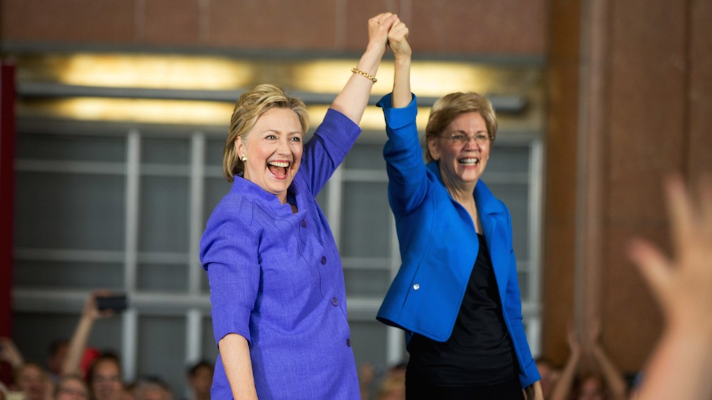 Hillary Clinton and Elizabeth Warren join forces for the first time and unleash on Trump