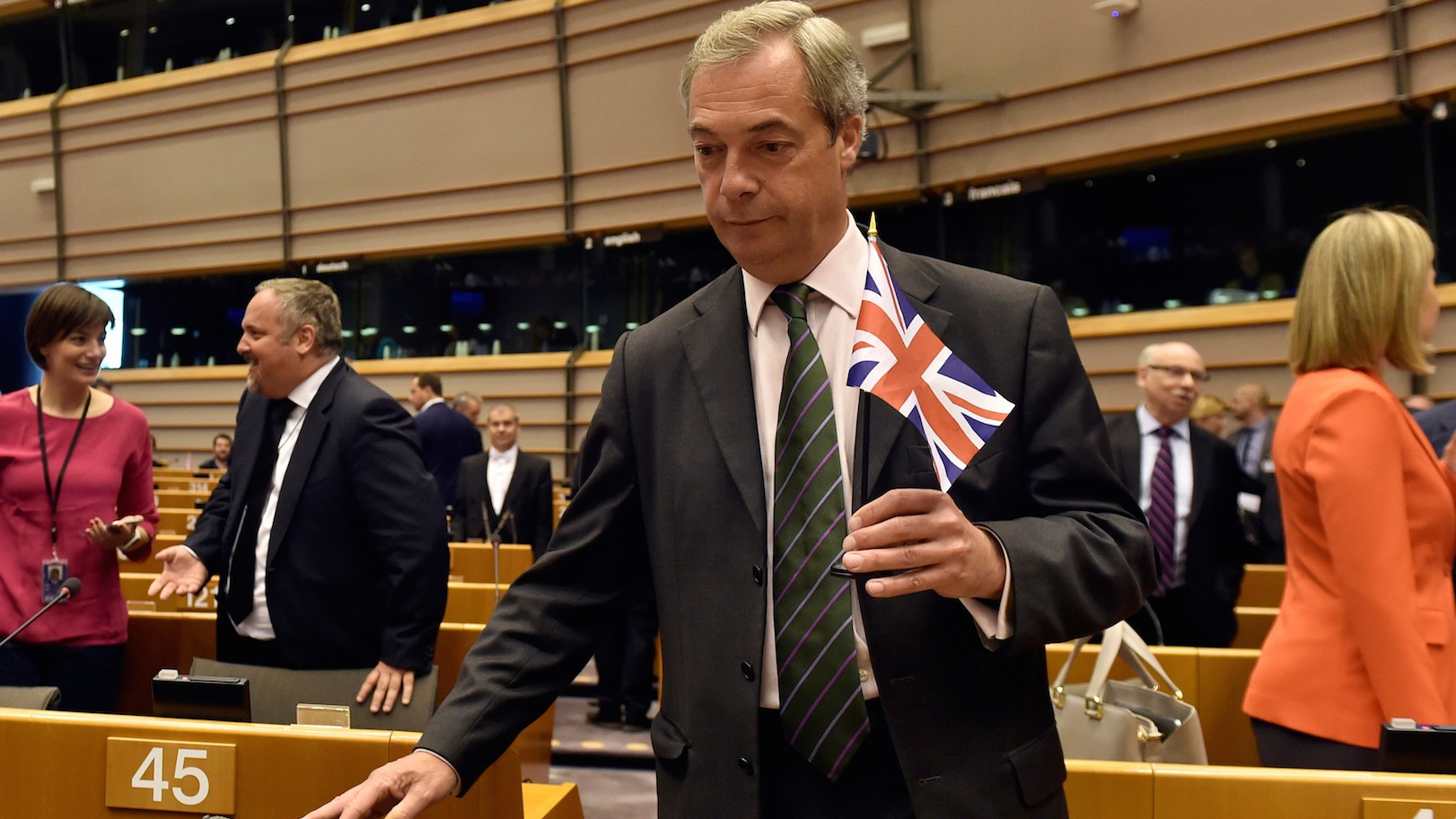 Britain's Nigel Farage to EU leaders: 'You're not laughing now, are you?'
