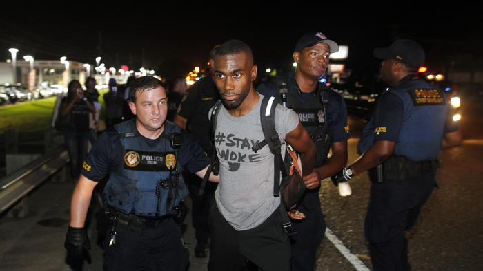 DeRay McKesson live-streamed his arrest during a Black Lives Matter protest in Baton Rouge