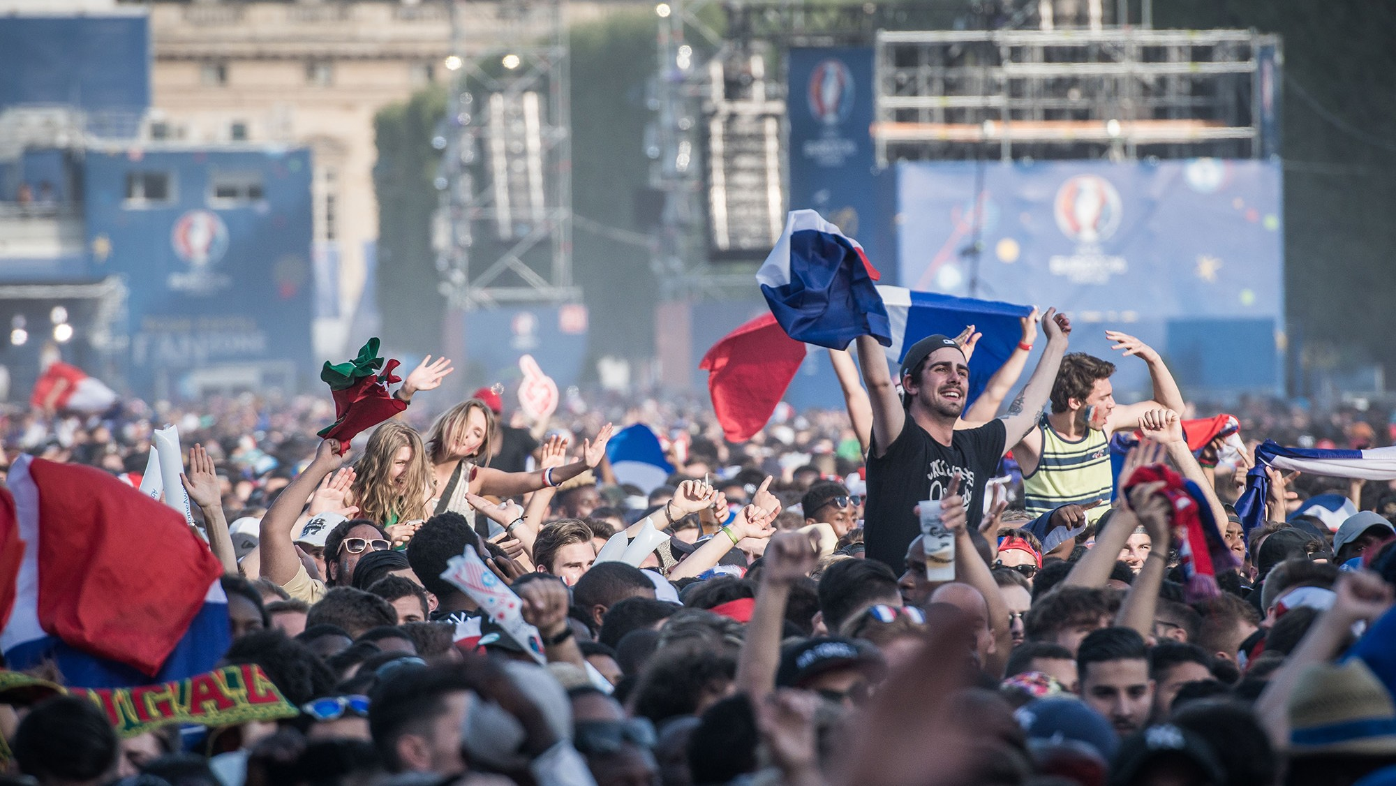 Jittery Paris ramps up security on the day of the Euro Cup final
