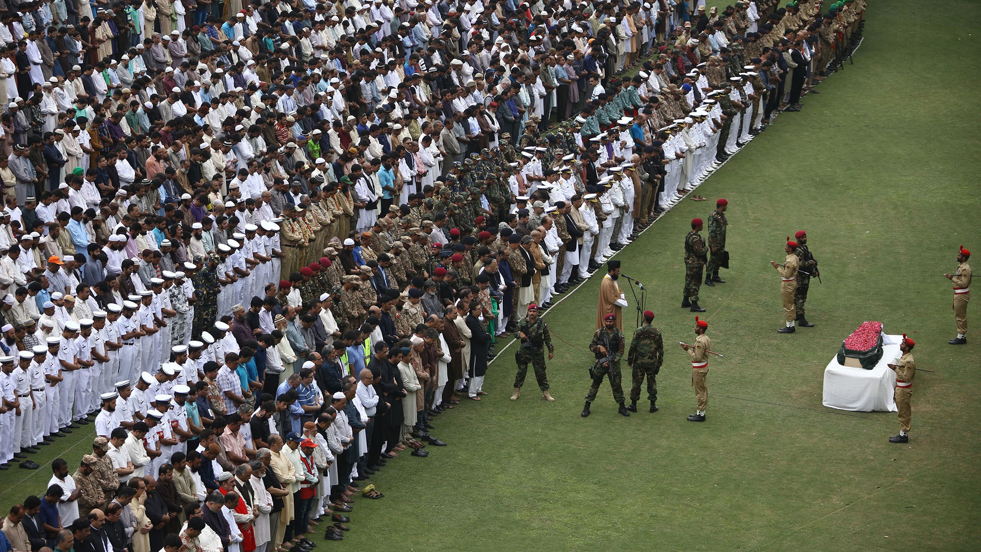 "Pakistan's ""living saint"" got the country's first state funeral in 30 years"