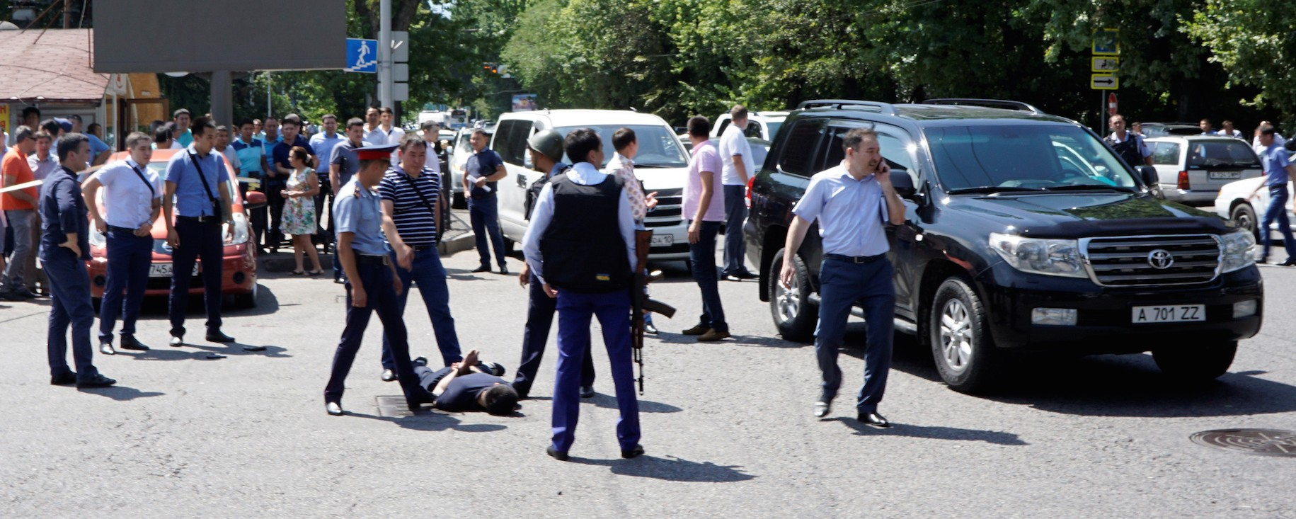 Islamist militants suspected in shootout targeting police in Kazakhstan