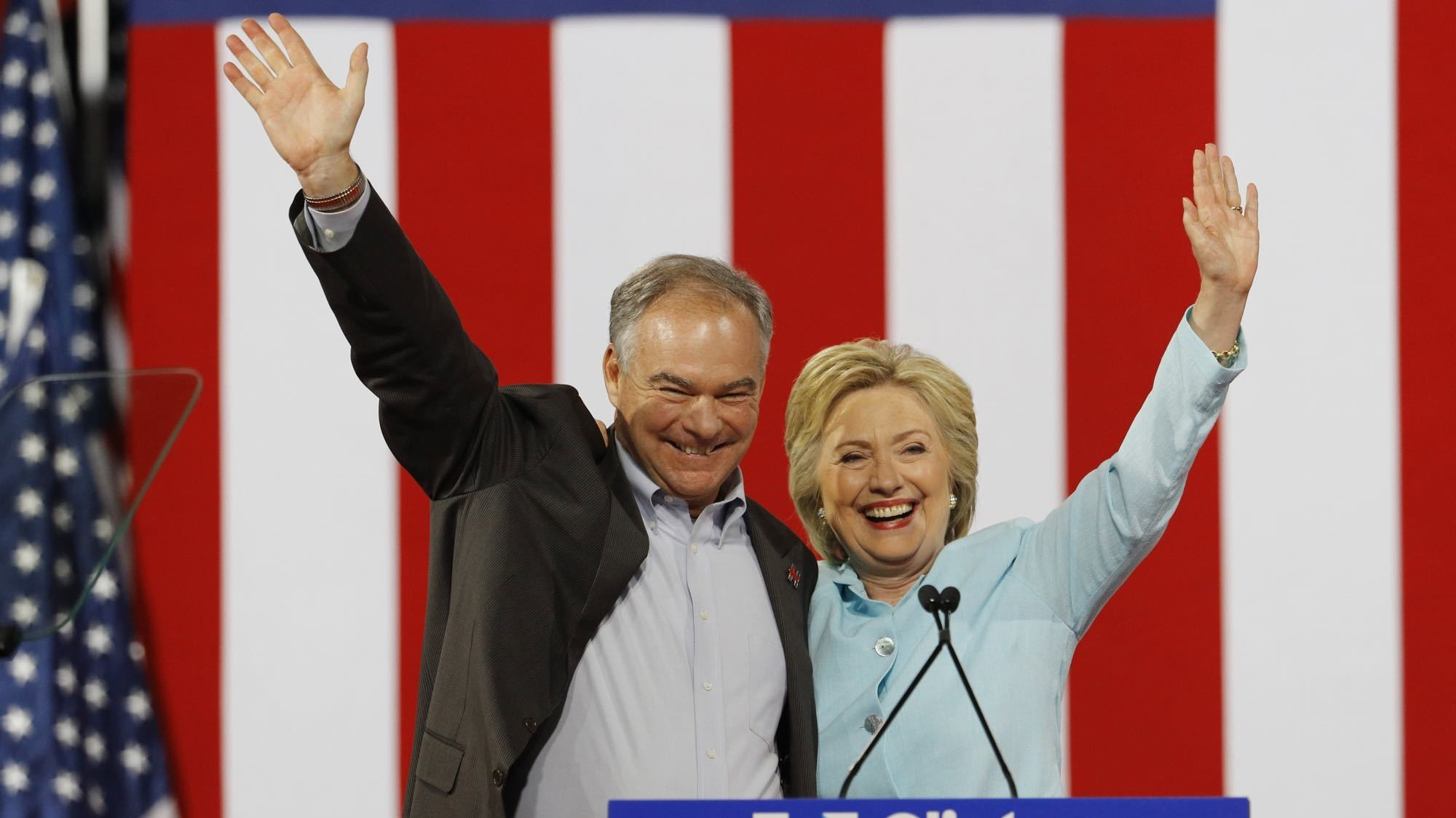 Clinton taps Tim Kaine for vice president, but fails to impress Sanders supporters