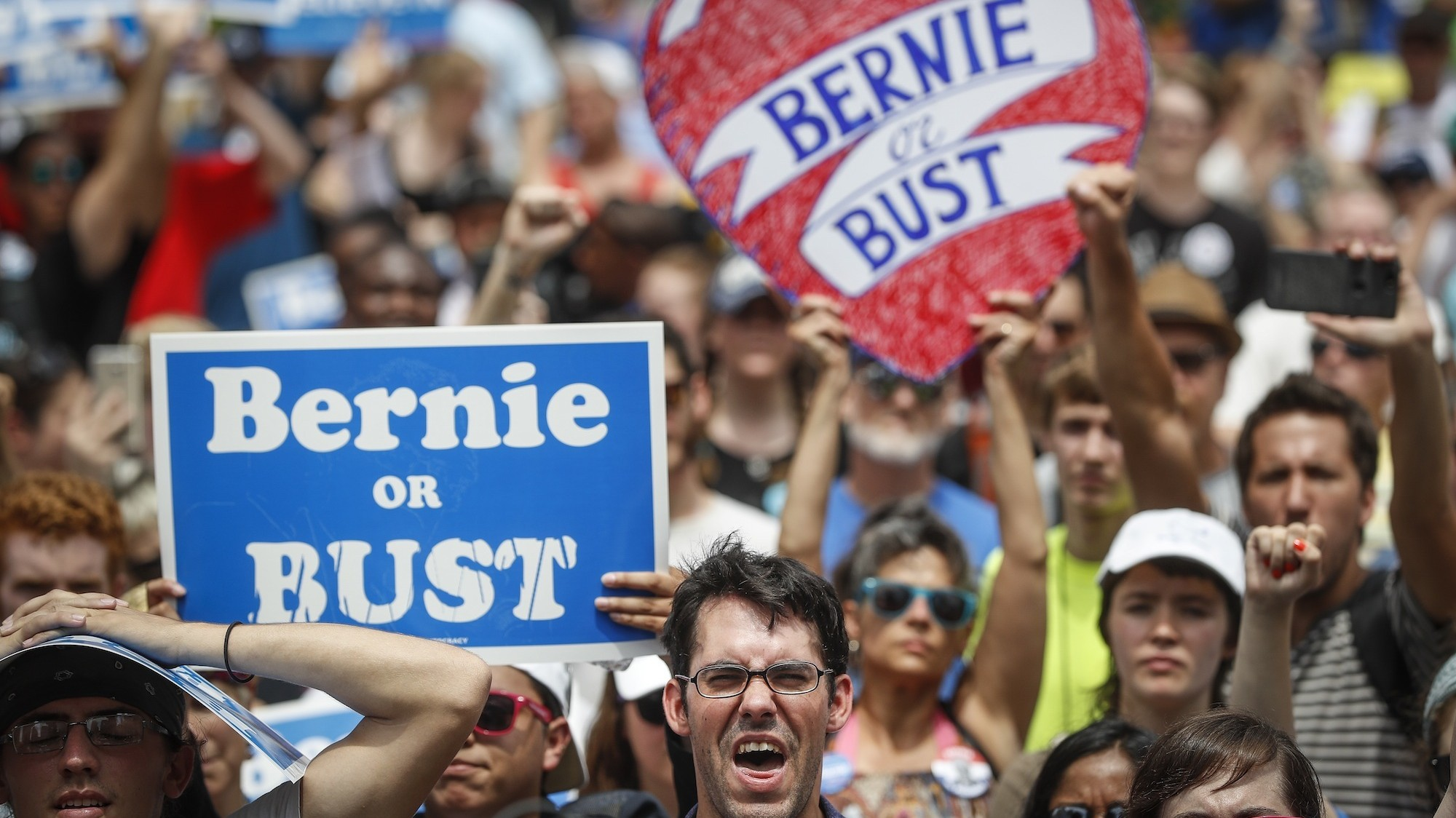 Bernie supporters are shocked — shocked! — at how politics works