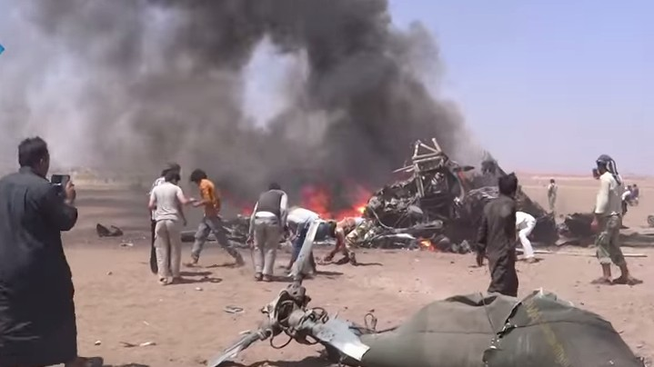 A Russian helicopter was shot down in Syria, killing 5