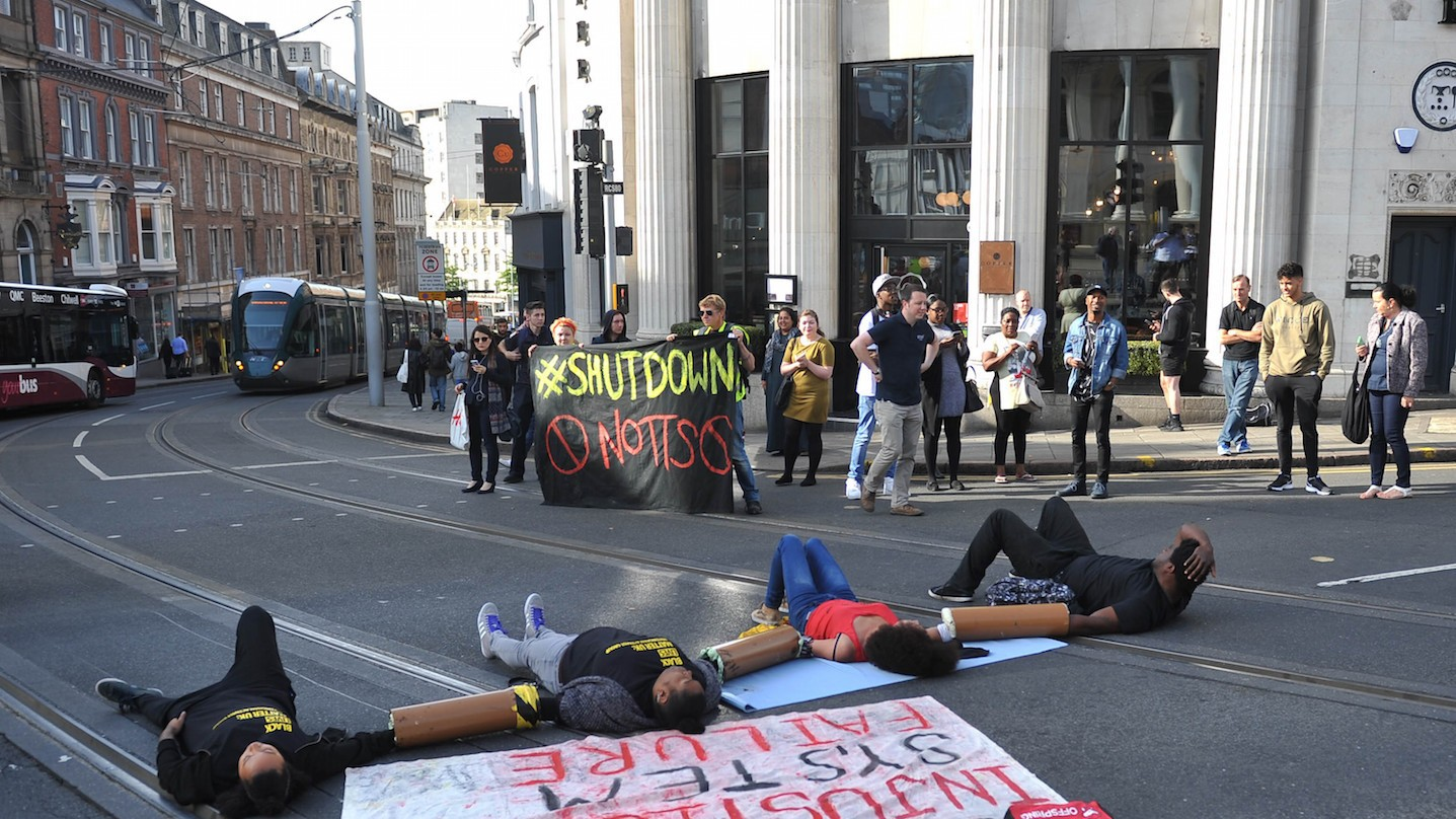 Black Lives Matter UK blocks traffic at Europe's biggest airport