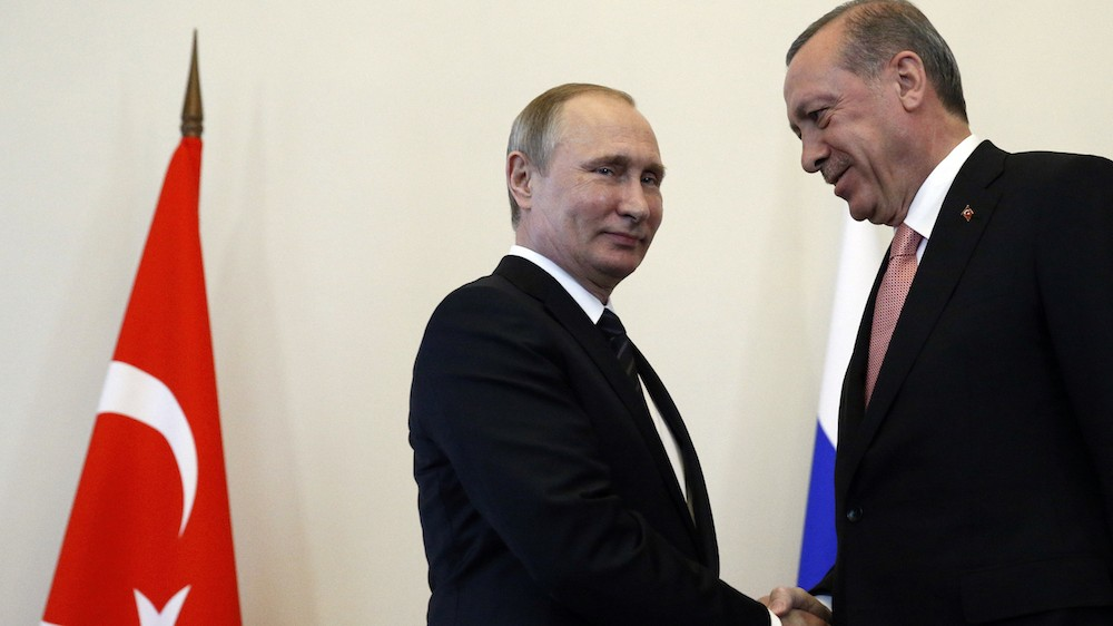 Putin and Erdogan seem like buddies again after a tense year