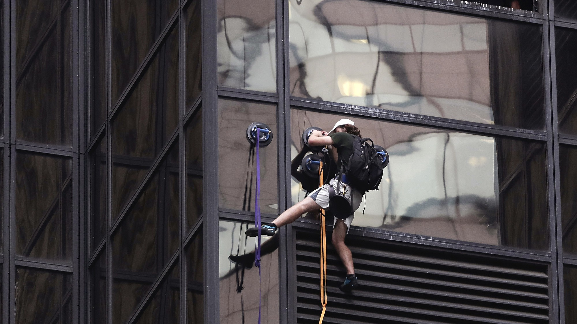 Man tries to scale Trump Tower with suction cups, gets arrested