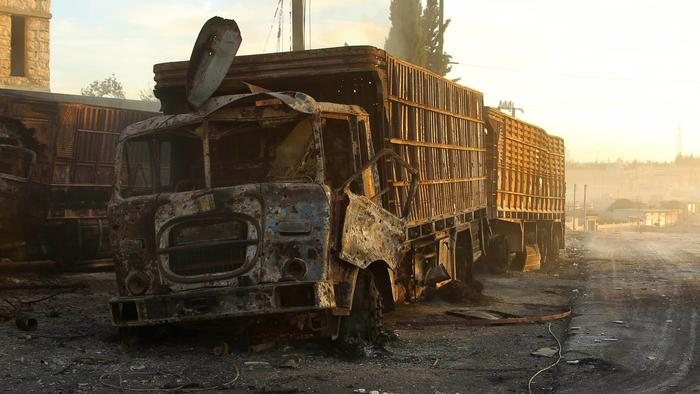 Both Russia and Assad deny bombing a UN aid convoy in Syria