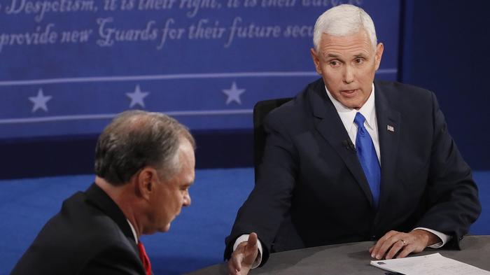 Donald Trump is mad that Mike Pence is a better debater