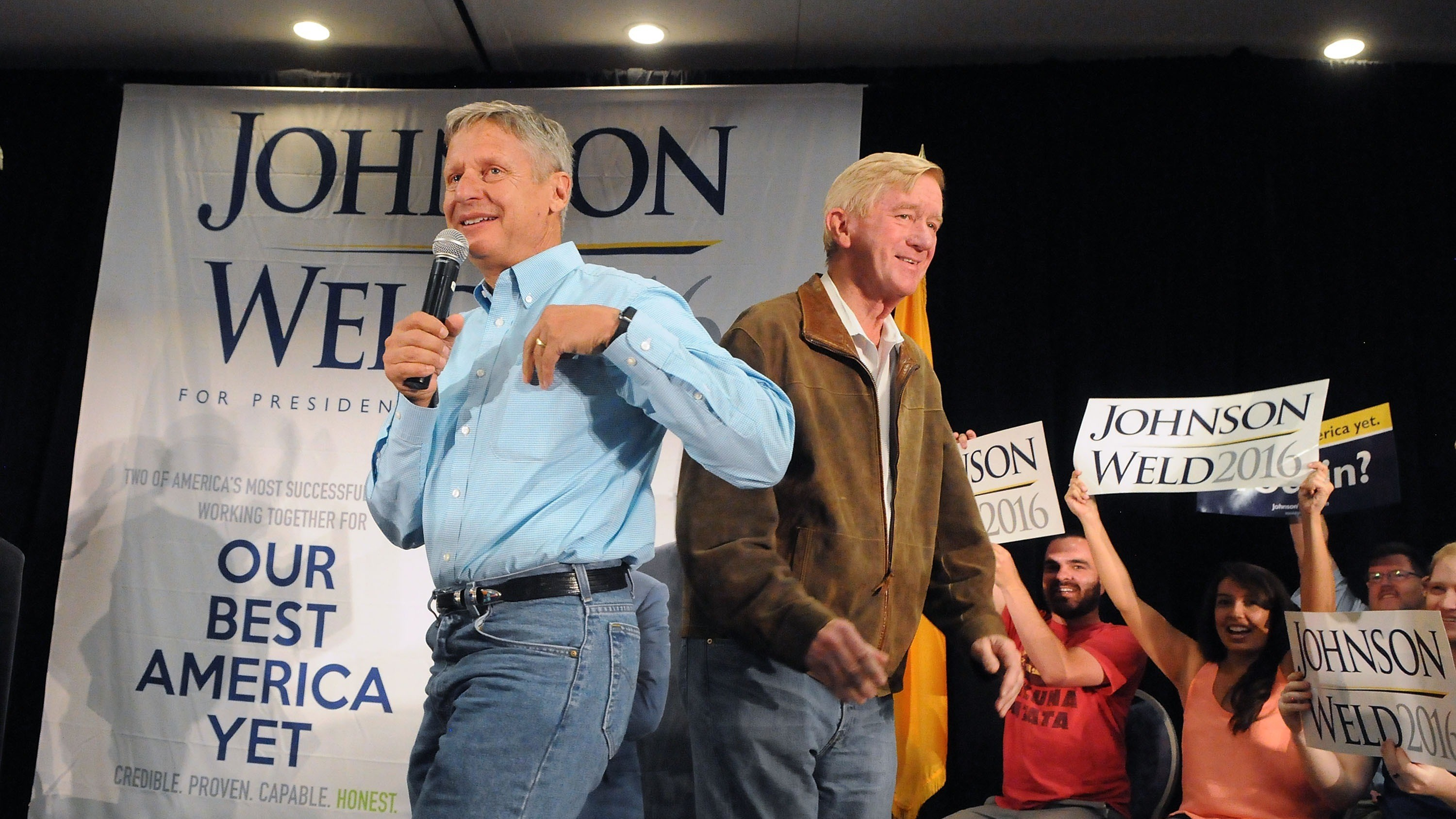 Gary Johnson's own VP pick pretty much just endorsed Hillary Clinton