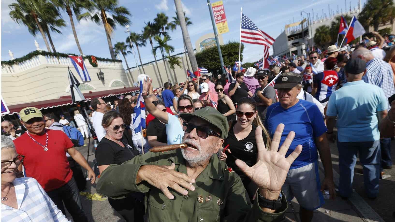 Miami and Havana reacted differently to the death of Fidel Castro
