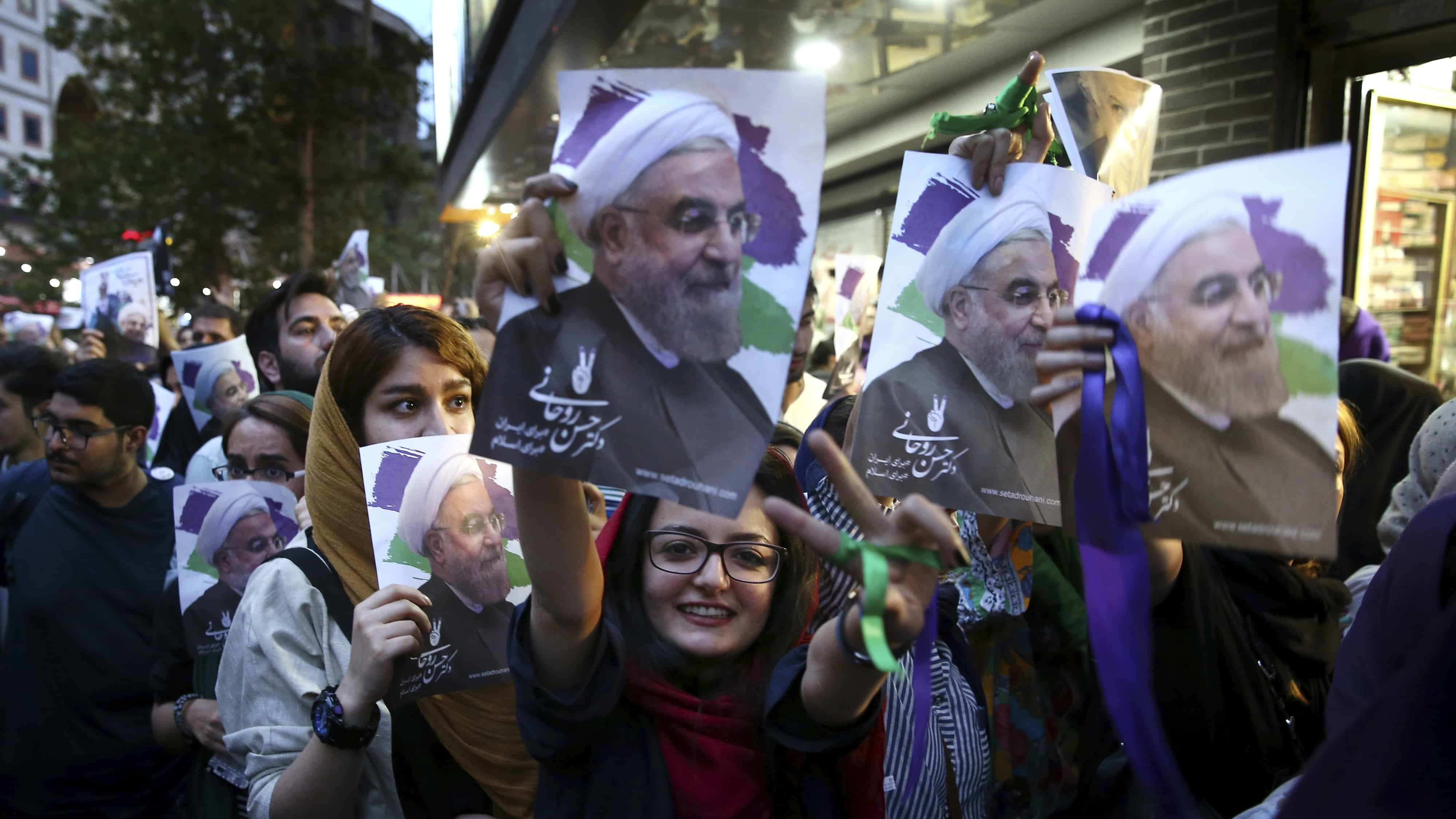 Hassan Rouhani wins Iran presidential election by a landslide