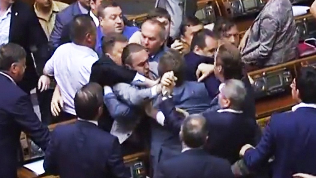 This Just In: Brawl Breaks out in Ukrainian Parliament