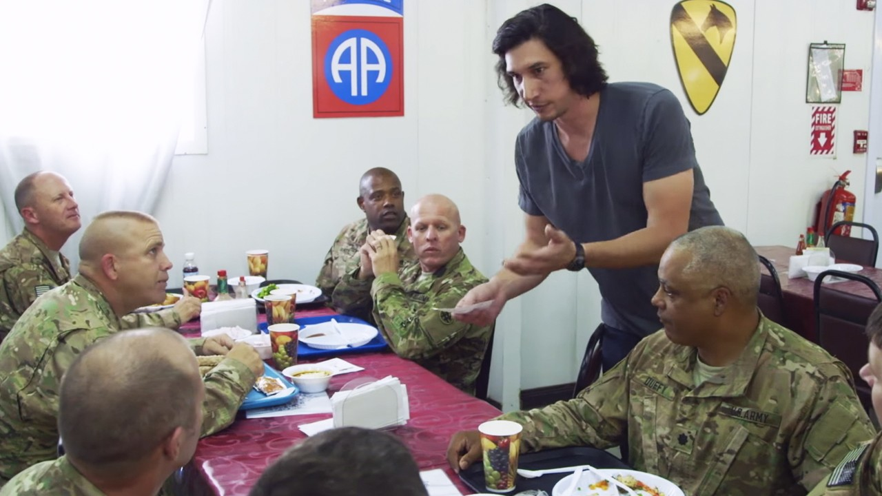 Adam Driver's Non-Profit Performs for the Troops (Excerpt from 'Arts in the Armed Forces')