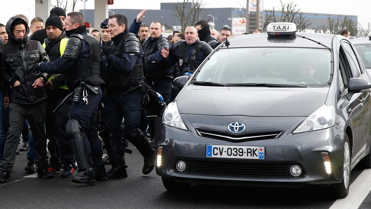 Quick Hit: Paris Police Clash With Taxi Drivers