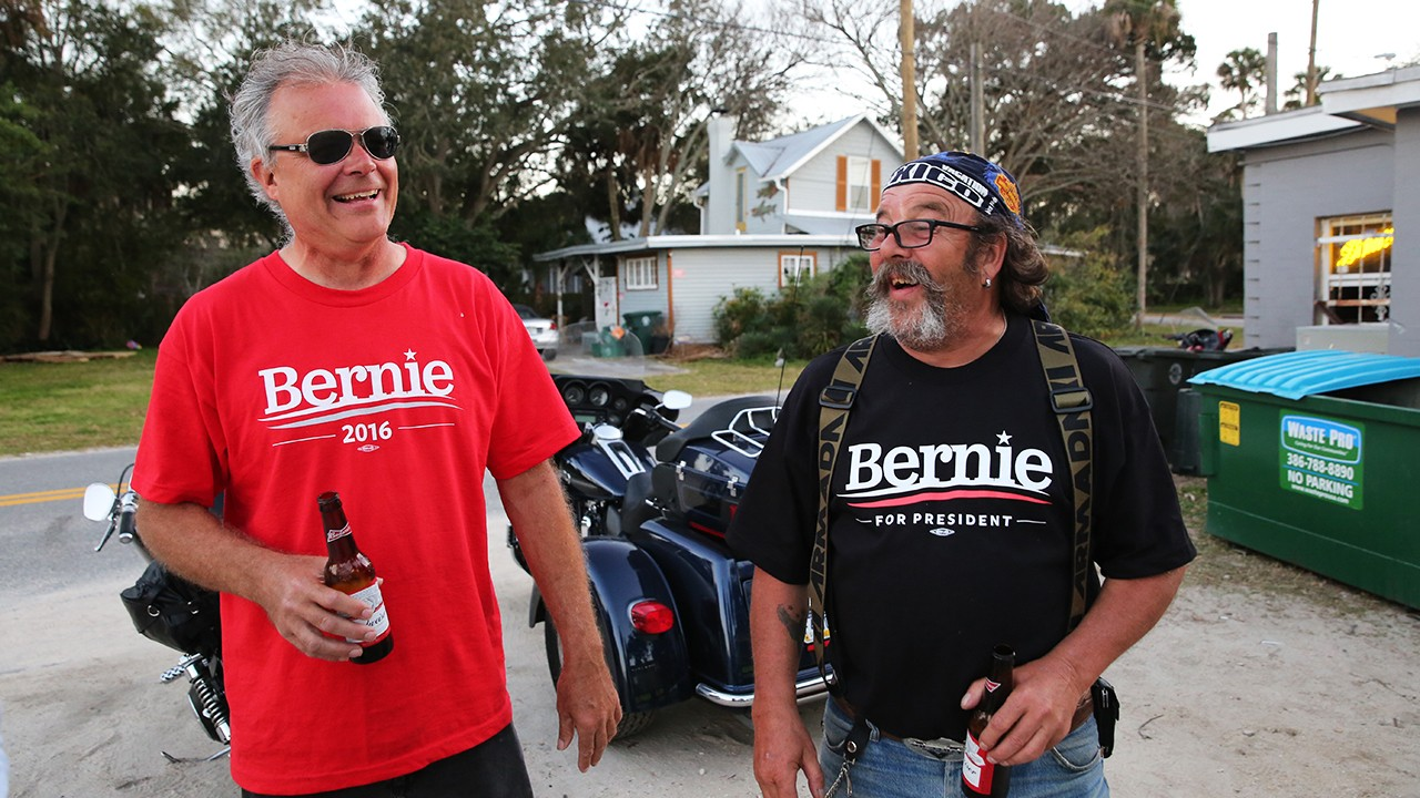 Riding with the Bikers for Bernie