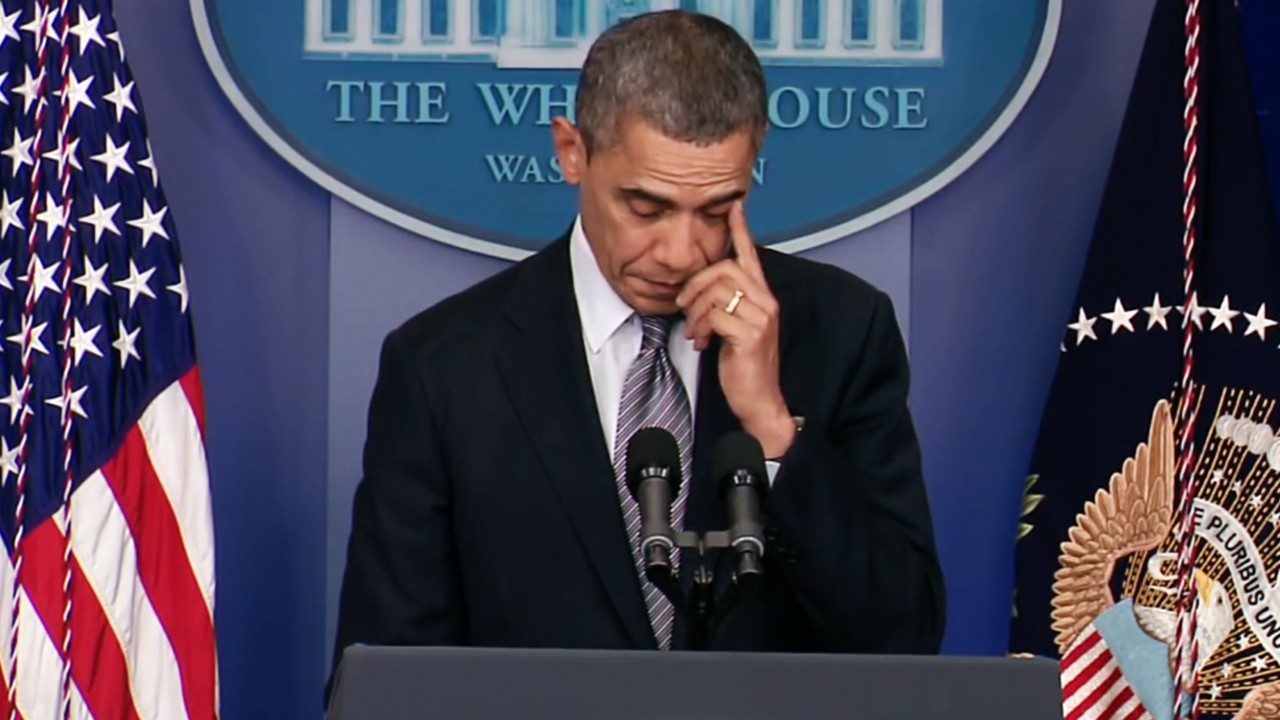 President Obama's responses to 16 mass shootings in eight years